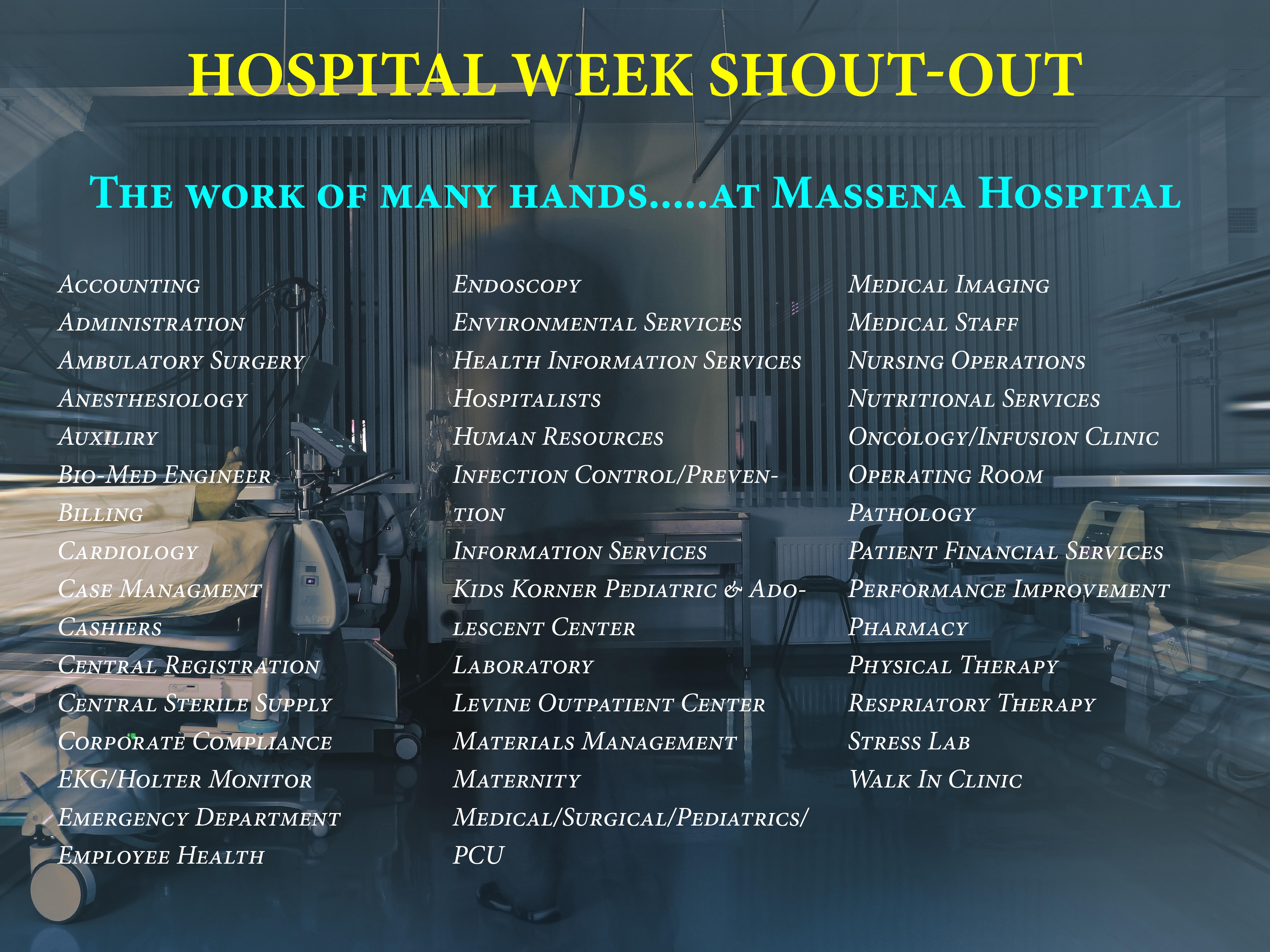 Hospital Week Wed.20