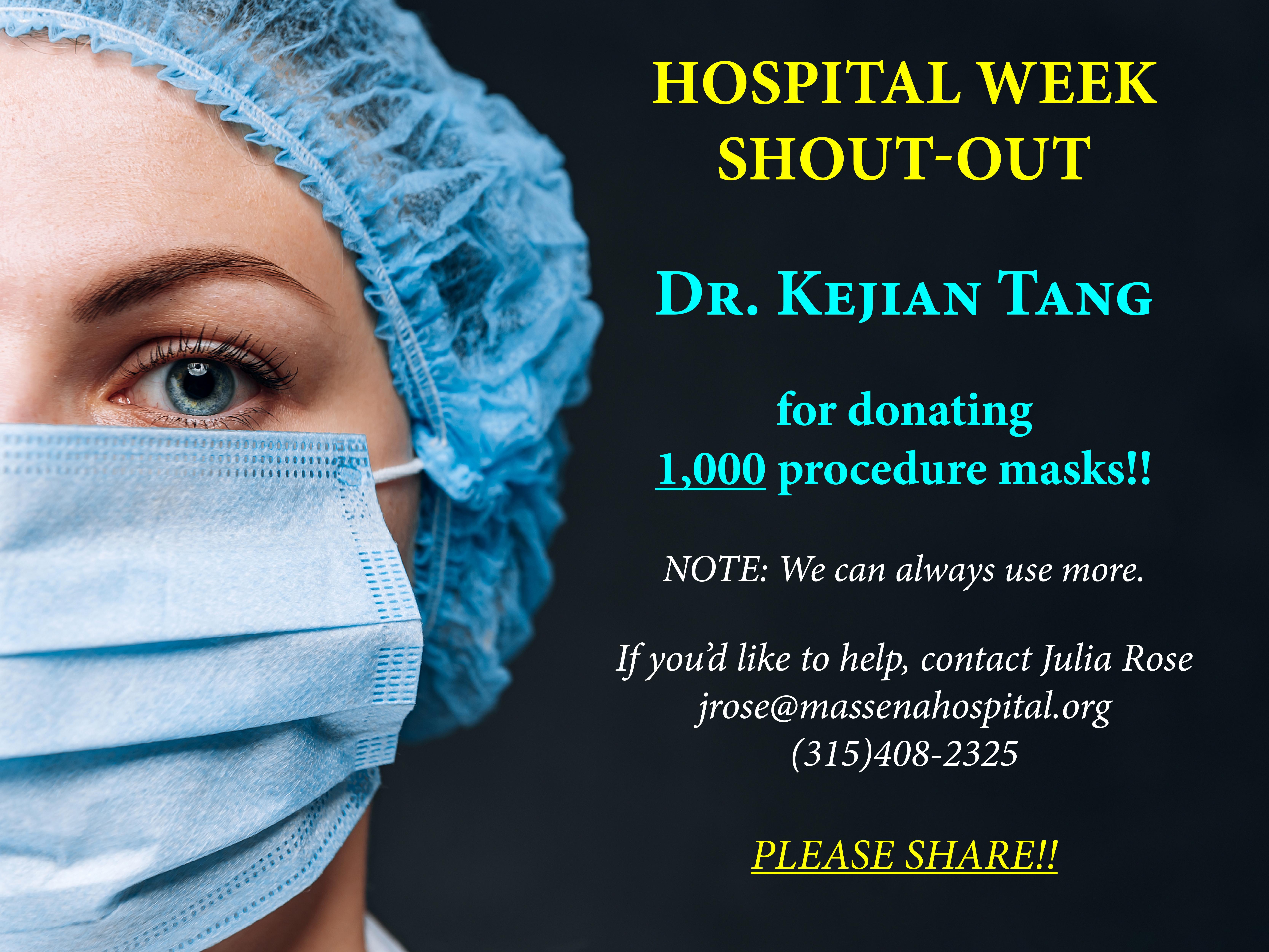 Hospital Week tues.20